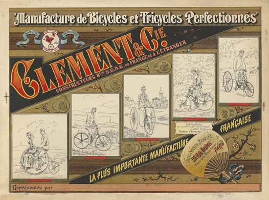 Manufacture de bicycles et tricycles perfectionnés, Clément ç