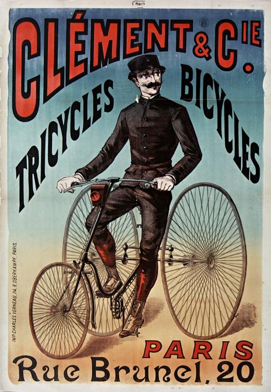 Clément et Cie Tricycles bicycles Paris rue Brunel, 20 / [affic